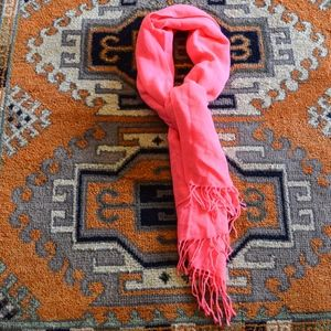 Forever 21 Electric Pink Tassel Scarf